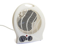 Electric heater. With temperature controls isolated over white Stock Photography
