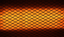Electric heater closeup. Halogen electric heater closeup suitable for textures or backgrounds Royalty Free Stock Photography