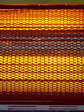 Electric Heater /D. Extreme close-up of a small radiant electric heater Royalty Free Stock Photo
