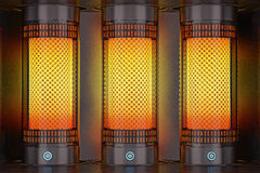 Electric heater. Stock Photo