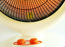 Electric heater local close-up Stock Photo