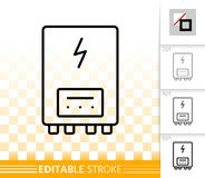 Electric Heater simple black line vector icon stock illustration