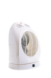 Electric heater. White electric heater on white background stock photos