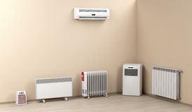 Electric heaters in the room Stock Photography