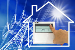 Electric heating concept Royalty Free Stock Photos