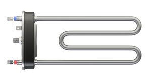 Electric heating element. Heater for washing machine - top view. Stock Photos