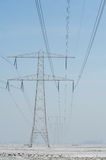 Electric high voltage mast Stock Image