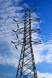 Electric high voltage post with sky background Stock Photography