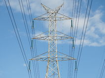 Electric high voltage power post Royalty Free Stock Photos
