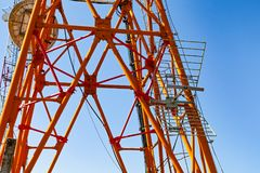 Electric high voltage tower Stock Image