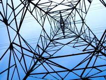 Electric High Voltage Transmission Tower Royalty Free Stock Photography