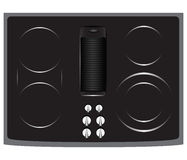 Electric Cooktop Stock Photo