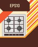 Electric hotplate. Royalty Free Stock Image