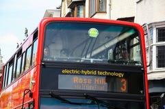 Electric-hybrid bus, Oxford. Royalty Free Stock Photo