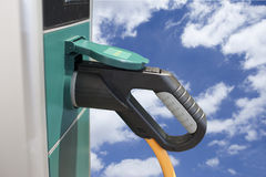 Electric hybrid car charging station Stock Images