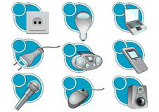 Electric_icons Stock Photo