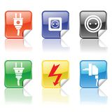 Electric icons Stock Photos