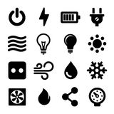 Electric Icons Set. For Electrical Box. Vector Royalty Free Stock Photos