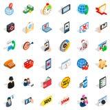 Electric icons set, isometric style. Electric icons set. Isometric set of 36 electric vector icons for web isolated on white background Royalty Free Stock Images
