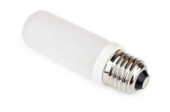 Electric incandescent lamp with frosted bulb Royalty Free Stock Images
