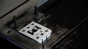 Electric industry laser marking stock video footage