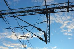 Electric instalation Stock Photo