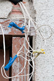 Electric installation failed Stock Photos