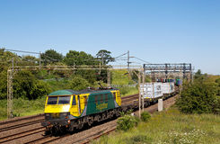 Electric intermodal freight train Stock Image