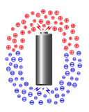 Electric ion of battery Stock Photo