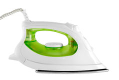 Electric iron. The electric iron stands on a white background Stock Image