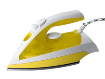 Electric iron. Modern electric iron isolated by clipping path Royalty Free Stock Photo