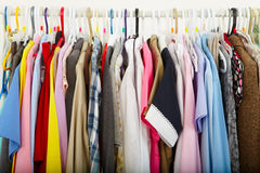 Electric iron and shirt Royalty Free Stock Image