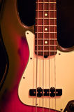 Electric jazz bass on black background Stock Photo