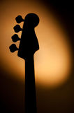 Electric jazz bass silhouette Royalty Free Stock Image