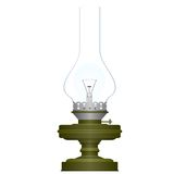 Electric and kerosene lamp Royalty Free Stock Photography