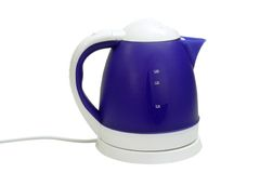 Electric kettle. Isolated on a white background royalty free stock photos