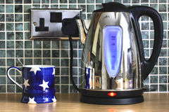Electric Kettle And Cup Royalty Free Stock Photography