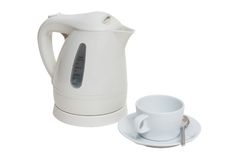 Electric kettle and cup Royalty Free Stock Photos