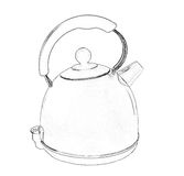 Electric Kettle illustration Stock Photo