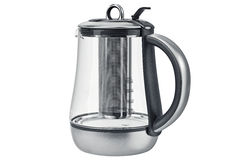 Electric kettle plastic elements. Electric kettle with handle and lid with plastic elements. 3D graphic stock photo