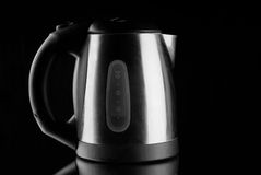 Electric Kettle with reflection on mirror Royalty Free Stock Image