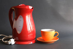 Electric Kettle And Tea Royalty Free Stock Images