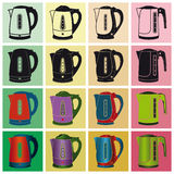 Electric kettles. Vector illustration Royalty Free Stock Image