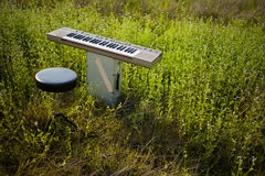 Electric Keyboard. An electric keyboard put on the ground Stock Photography
