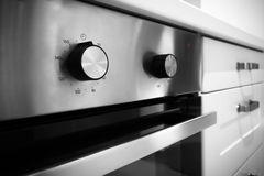 Electric kitchen stove control switch Stock Image