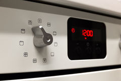 Electric kitchen stove control switch Royalty Free Stock Photos