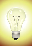 Electric lamp. On yellow background. Vector illustration Stock Images