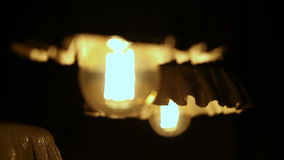 Electric lamp glows in the floor lamp stock footage
