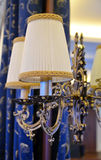 Electric lamp in a luxurious vintage style on the mirror Royalty Free Stock Photo