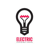 Electric lamp - vector logo template concept illustration. Lightbulb creative sign.  royalty free illustration